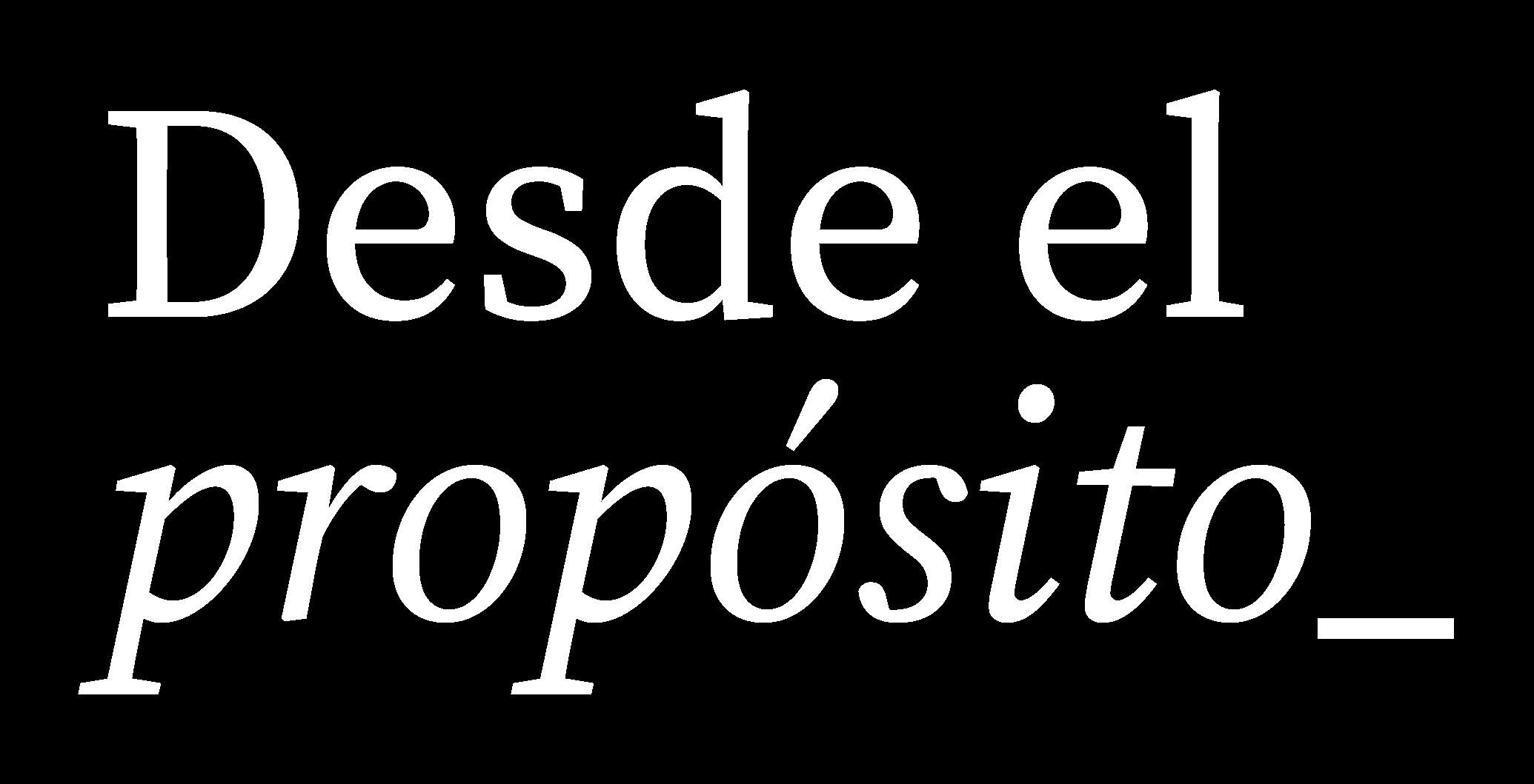Logotipo desde el propósito