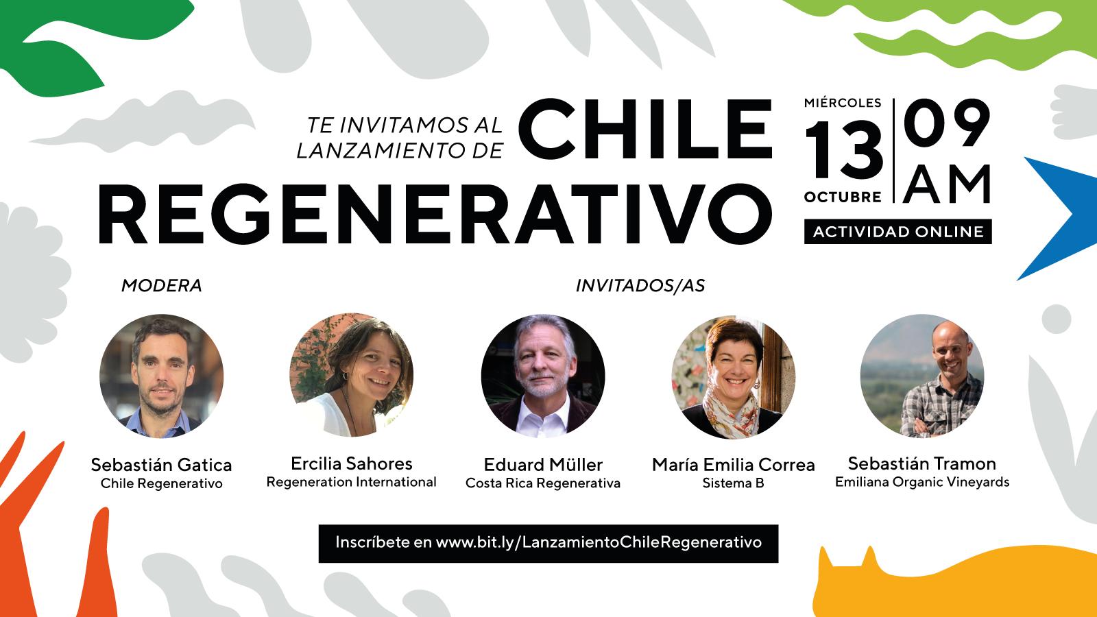 La iniciativa impulsada por CoLab UC y Fundación Kawoq se pondrá en marcha el 13 de octubre en una actividad online y con la presencia de importantes referentes de la regeneración en latinoamérica.